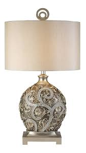 ok lighting 12 25 in antique brass silver vine table lamp