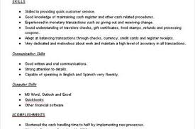 Sample Resume Of A Cashier by 100 Sample Cashier Resume Cashier Resume Objective Sample