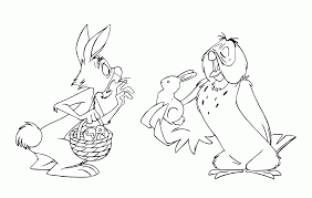 winnie the pooh and rabbit coloring pages coloring home