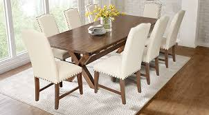 Dining Room Sets With Fabric Chairs by Twin Lakes Brown 5 Pc 72 In Rectangle Dining Room Dining Room