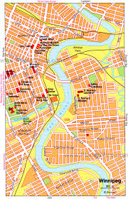 winnipeg map 15 top tourist attractions in winnipeg planetware