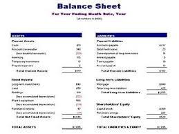 Account Balance Sheet Template Pro Forma Balance Sheet Template Free Layout Format