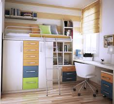 entrancing cute kids room design with white wooden floating desk