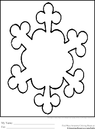 printable snowflakes to color free download
