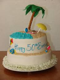 my cake hobby hawaiian beach birthday cake