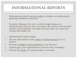 informational report template report writing types format structure and relevance