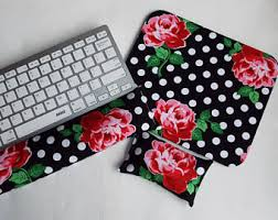 Floral Desk Accessories Floral Desk Set Etsy