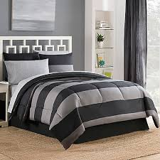 Bedding Bed Bath And Beyond Bryce Reversible 6 8 Piece Comforter Set In Black Bed Bath U0026 Beyond