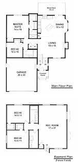 Rambler Open Floor Plans Plan 1142 2 Bedroom Bi Level Home With Open Living Space