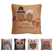 Thanksgiving Pillow Covers Decorative Owl Pillows Promotion Shop For Promotional Decorative