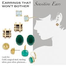 sensitive ears earrings solutions 51 pierced earrings for sensitive ears options pierced earrings for