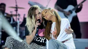ariana grande and miley cyrus perform nz song at one love manchester
