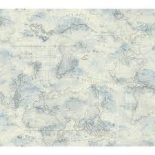 york wallcoverings ny4834 nautical living coastal map wallpaper