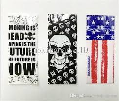 skull wrapping paper cheap dhl free 18650 battery wrap paper flag skull style