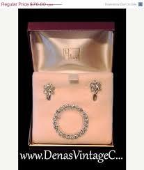 diamond earrings black friday sale vintage eisenburg ice rhinestone faux diamond earrings signed