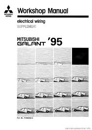 mitsubishi galant 1995 7 g electrical wiring diagram workshop manual