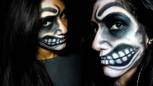 halloween 2014 makeup half monster face youtube
