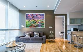 modern apartment art pink wintersweet copy famous oil paintings canvas home decoration