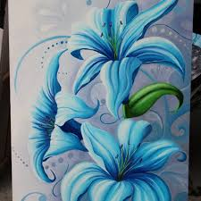 blue lilies blue lilies cards suzann