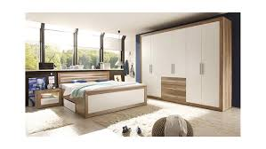 Kika Schlafzimmer Angebote Fernando Canyon Oak Weiß Beleuchtung 180x200