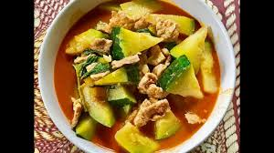 Thai Red Pumpkin Curry Recipe by Thai Red Curry With Pork Pumpkin And Holy Basil ส ตรอาหารทำ