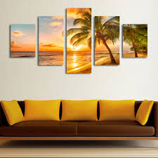 aliexpress com buy sunrise coconut definition pictures canvas