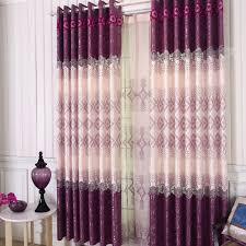 fancy fashion modern curtain design purple unique and special