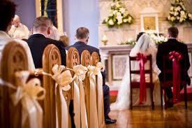 Church Decorations For Wedding Wedding Pew Decorations Romantic Decoration