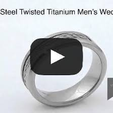 titanium men diamond steel twisted cable men s titanium wedding bands