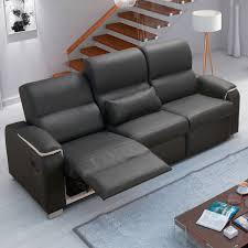 canap relax pas cher canapé relax 3 places en pvc noir et blanc eline dya shopping fr