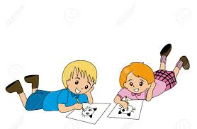 kids drawing on white sheet of paper closeup drawing paper with