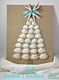 with 4 boys diy seashell tree canvas board crafts