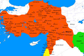Egypt On Map Hittite Empire Map Of The Hittite Empire C 1300 Bc