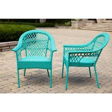Turquoise Patio Chairs Furniture Contemporary Set Of 2 Turquoise Patio Chairs For
