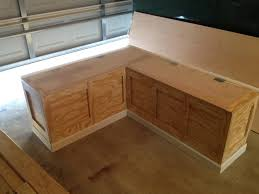 Kitchen Bench Seating With Storage Plans by Built In Storage Bench Plans Bench Decoration
