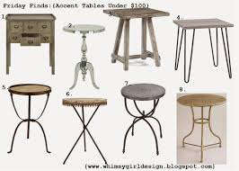 round pedestal accent table whimsy friday finds accent tables under 100