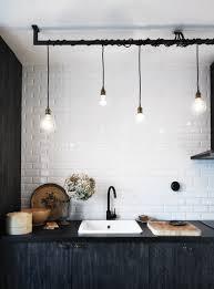 industrial light fixtures for kitchen grifería ideas para reformar tu cocina cocinas pinterest
