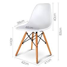 set of 2 replica eames eiffel dining chairs white nextfurniture