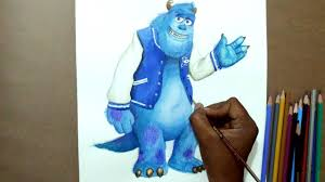 draw sulley monster university