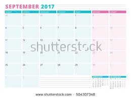 yearly wall calendar planner template 2018 stock vector 605413910