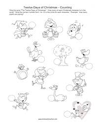 the twelve days of christmas coloring pages archives