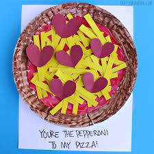 paper plate pepperoni pizza valentine craft crafty morning