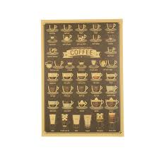 k che retro kaffeetasse daquan bars küche shop wand zeichnung poster