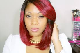 rpgshow wig red bob wig with lace closure quick weave style