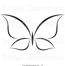 clipart of a black and white butterfly logo on white by 120