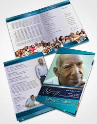 obituary program template free funeral program templates download