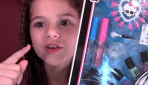 monster high makeup sched with style beauty frankie stein set review and demo for kids you