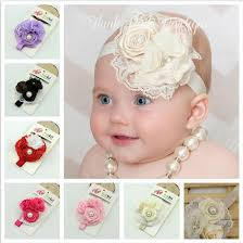 baby girl hair bands baby hair bands vintage lace roses pearls flowers infant