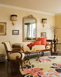 Traditional Armchairs Formal Lounge Living Room Traditional With Ornate Mirror