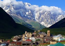 Shkhara mountain and ushguli svaneti georgia north caucasus land
